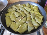 Yummy Vegetarian/Vegan Dolmades or Stuffed Vine Leaves